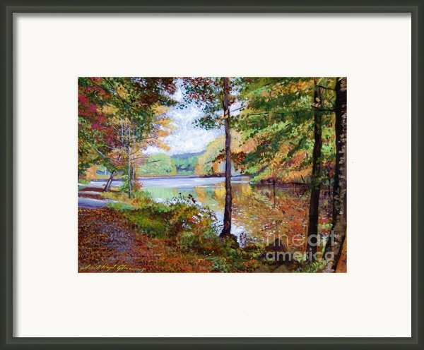 Autumn At Rockefeller Park  Framed Print By David Lloyd Glover