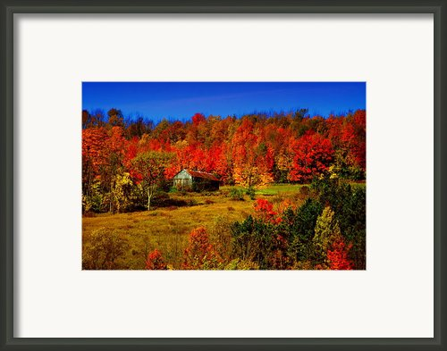 Autumn Barn Framed Print By Emily Stauring