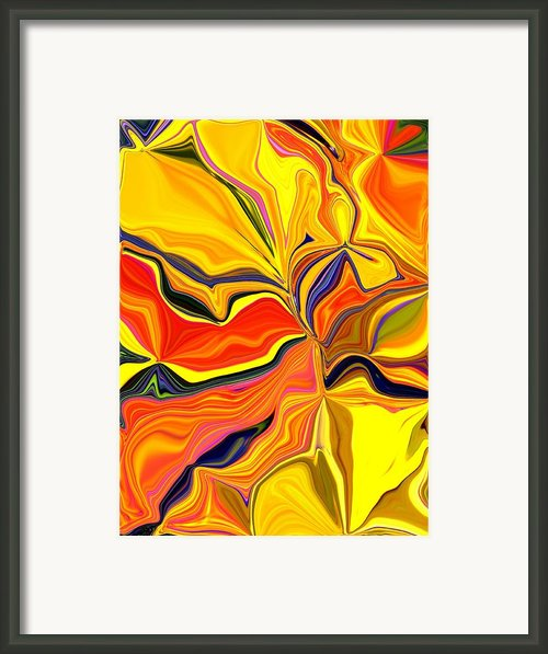 Autumn Bouquet Framed Print By Renate Nadi Wesley