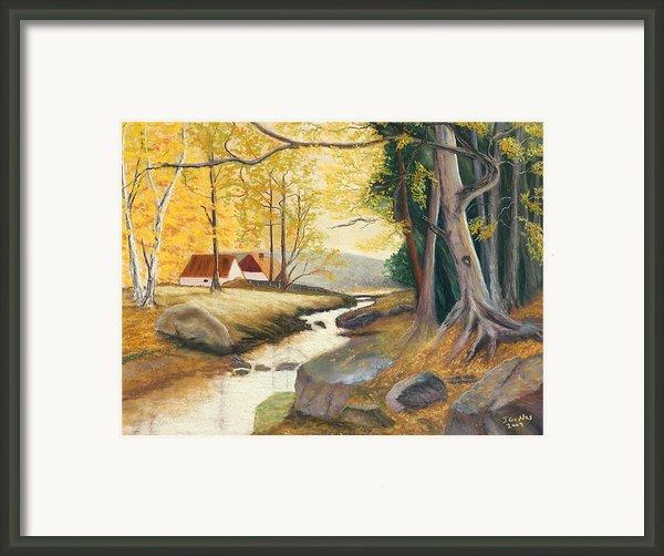 Autumn Brook Framed Print By James Geddes