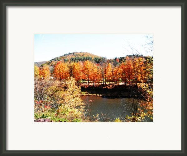 Autumn By The River Framed Print By Jeanette Oberholtzer
