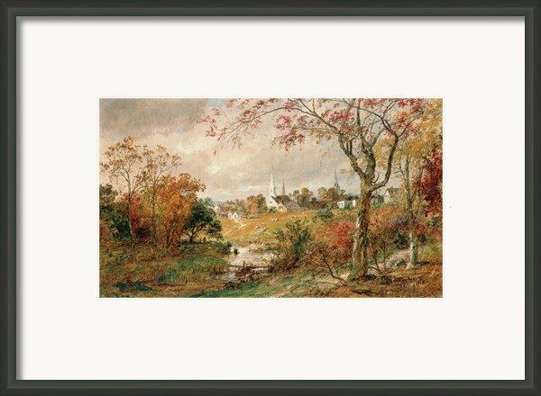 Autumn Landscape Framed Print By Jasper Francis Cropsey