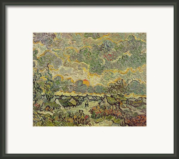 Autumn Landscape Framed Print By Vincent Van Gogh