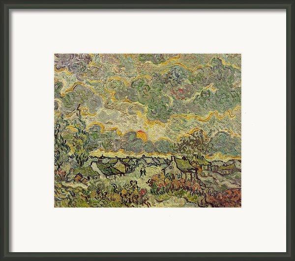 Autumn Landscape Framed Print By Vincent Van Gogh