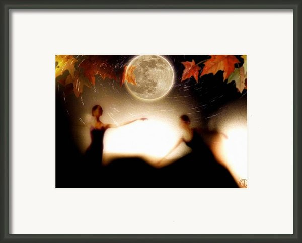 Autumn Moon Dance Framed Print By Gun Legler