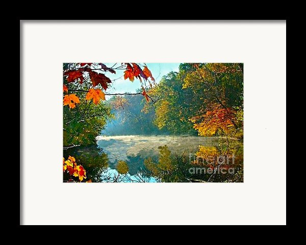 Autumn On The White River I Framed Print By Julie Dant