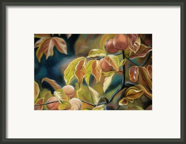 Autumn Peaches Framed Print By Brenda Williams