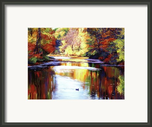 Autumn Reflections Framed Print By David Lloyd Glover
