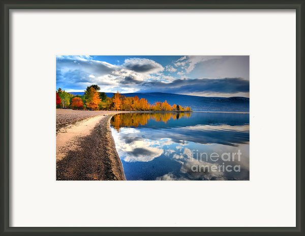Autumn Reflections In October Framed Print By Tara Turner