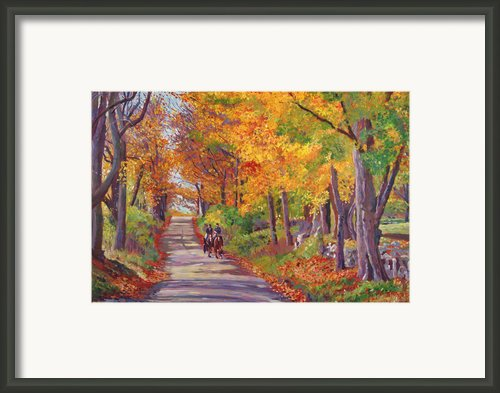Autumn Ride Framed Print By David Lloyd Glover