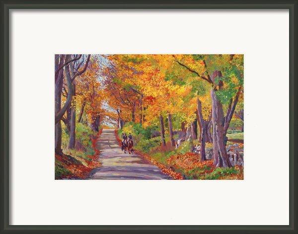 Autumn Ride Framed Print By David Lloyd Glover
