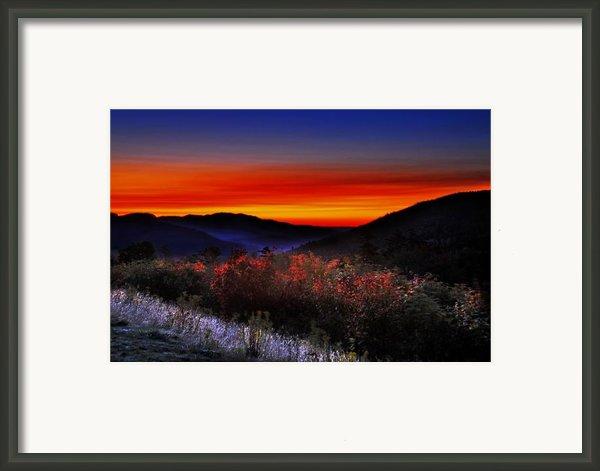 Autumn Sunrise Framed Print By William Carroll
