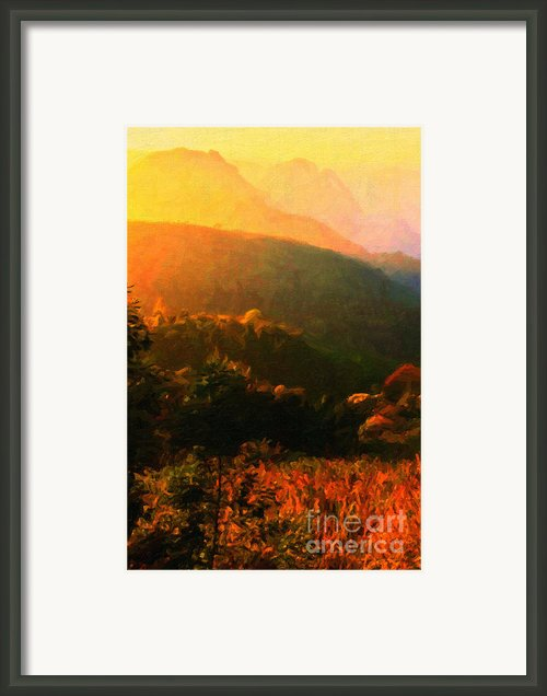 Autumn Sunset Landscape Framed Print By Wingsdomain Art And Photography