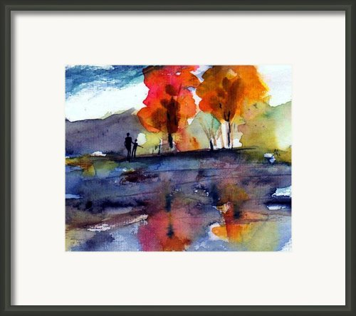 Autumn Walk Framed Print By Anne Duke