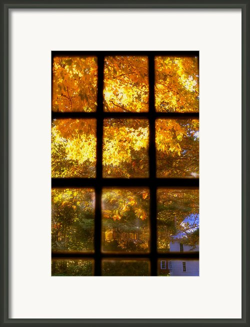 Autumn Window 2 Framed Print By Joann Vitali
