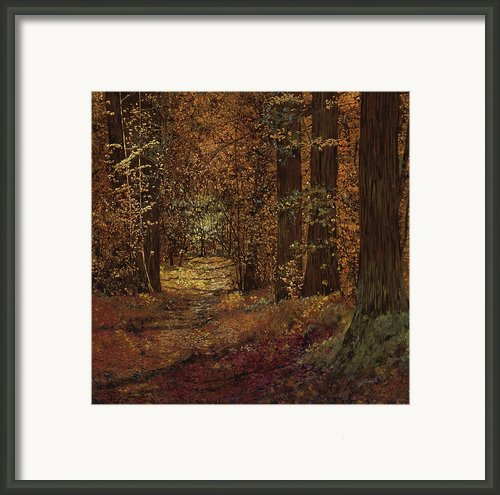 Autunno Nei Boschi Framed Print By Guido Borelli