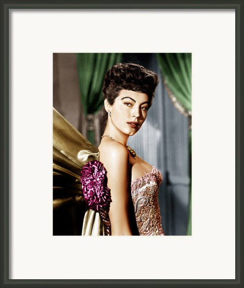 Ava Gardner, Ca. Late 1940s Framed Print By Everett