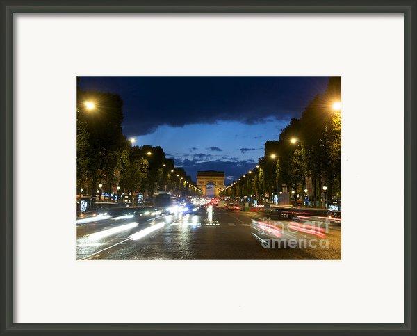 Avenue Des Champs Elysees. Paris Framed Print By Bernard Jaubert