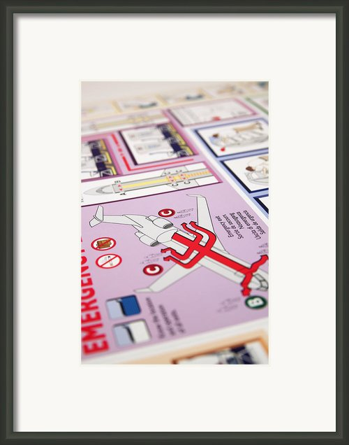 Aviation Information Iii Framed Print By Ricky Barnard