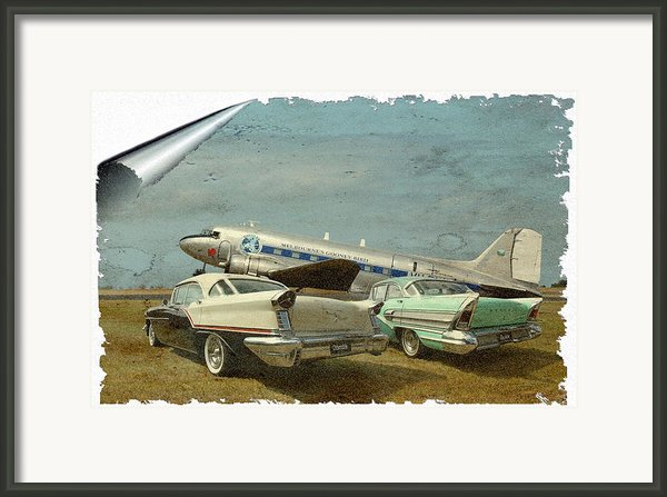 Aviation Of The Past Framed Print By Steven Agius