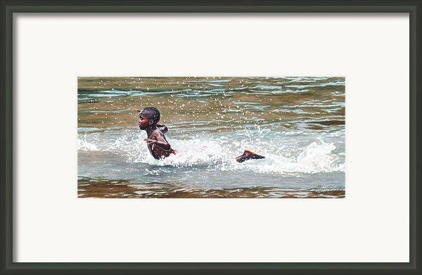 Awesome Splash Framed Print By Gregory Jules