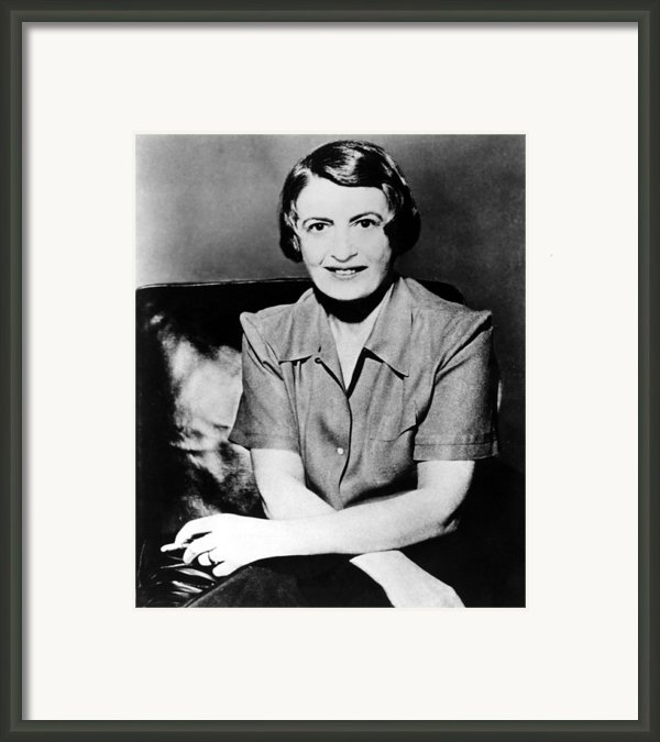 Ayn Rand, 1957 Author Of Atlas Shrugged Framed Print By Everett