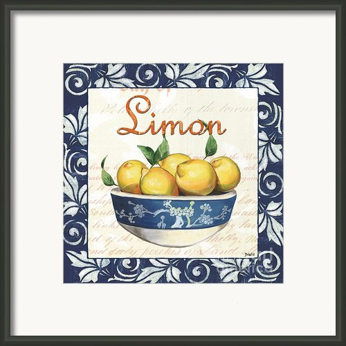 Azure Lemon 3 Framed Print By Debbie Dewitt
