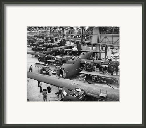 B-24 Liberator Bombers Nearing Framed Print By Everett