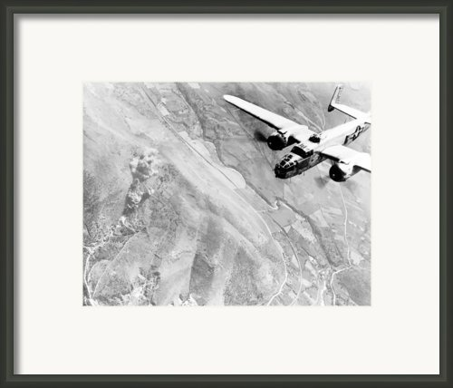 B-25 Bomber Over Germany Framed Print By War Is Hell Store