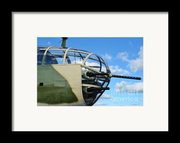 B-25j Nose Framed Print By Lynda Dawson-youngclaus