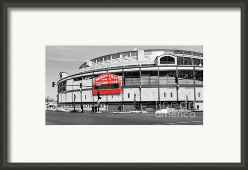 B-w Wrigley Framed Print By David Bearden