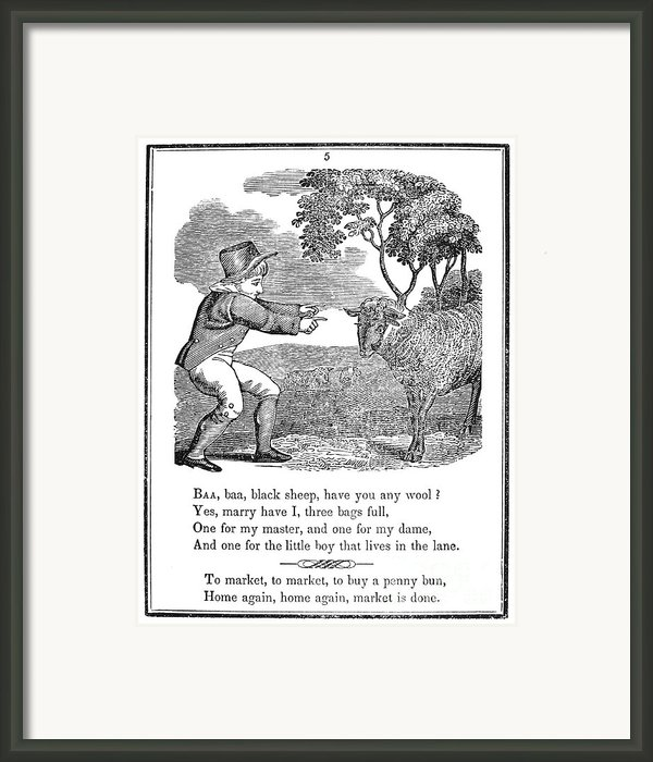 Baa, Baa, Black Sheep, 1833 Framed Print By Granger