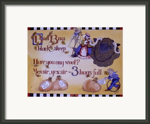 Baa Baa Black Sheep Framed Print By Victoria Heryet