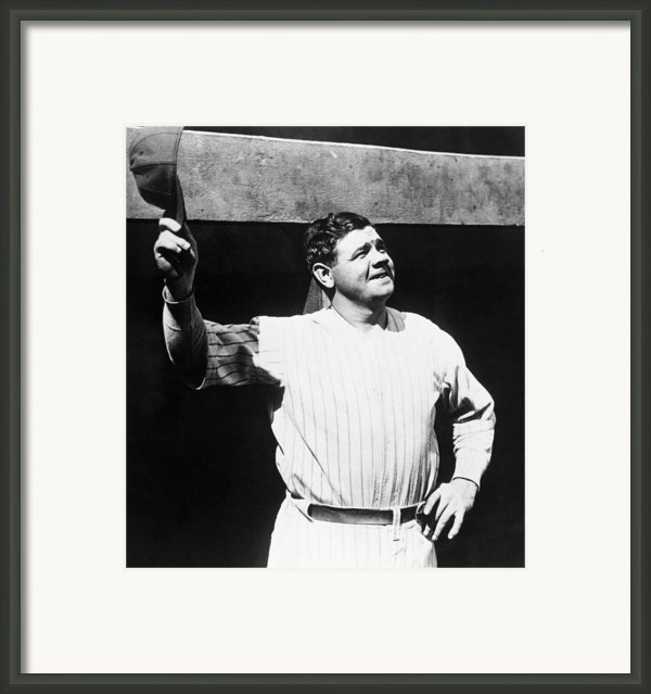Babe Ruth 1895-1948, American Baseball Framed Print By Everett