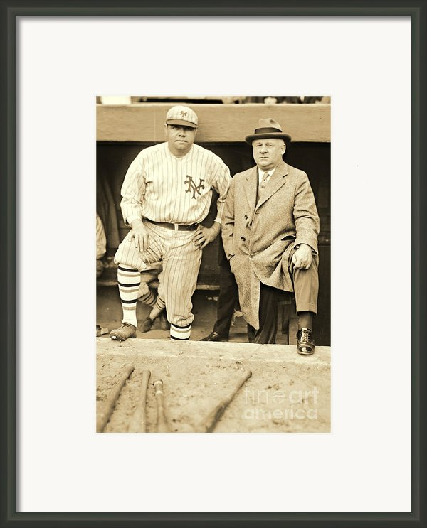Babe Ruth And John Mcgraw 1923 Framed Print By Padre Art