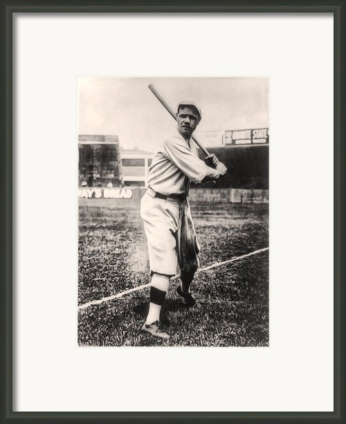Babe Ruth Framed Print By Bill Cannon