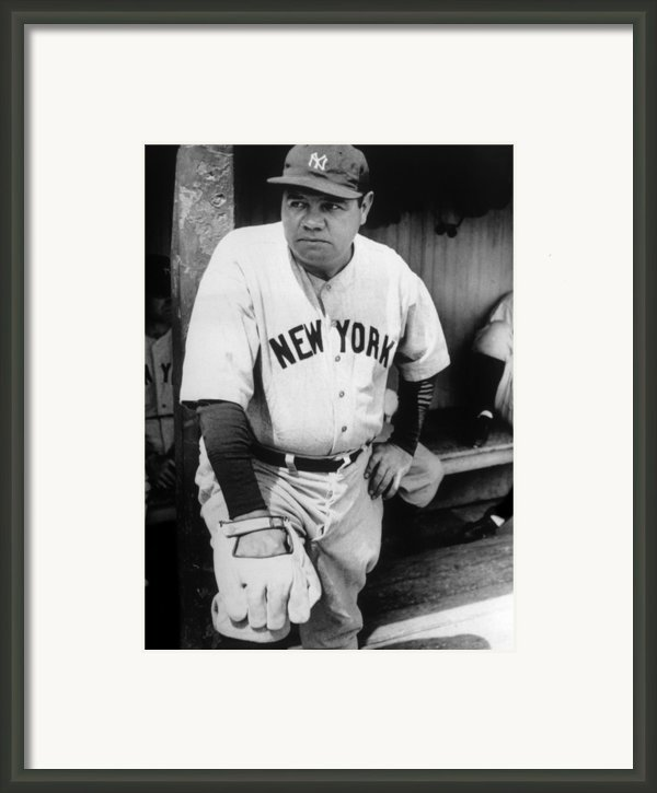 Babe Ruth In The New York Yankees Framed Print By Everett