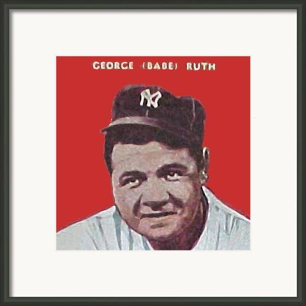 Babe Ruth Framed Print By Paul Van Scott