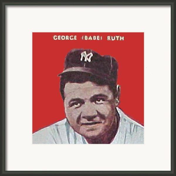 Babe Ruth Framed Print By Paul Van Scott