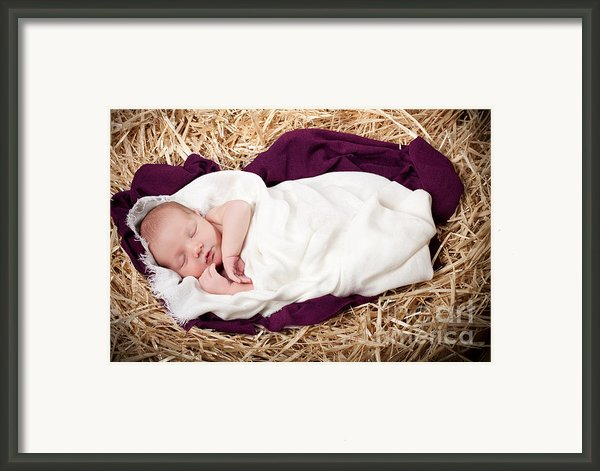 Baby Jesus Nativity Framed Print By Cindy Singleton