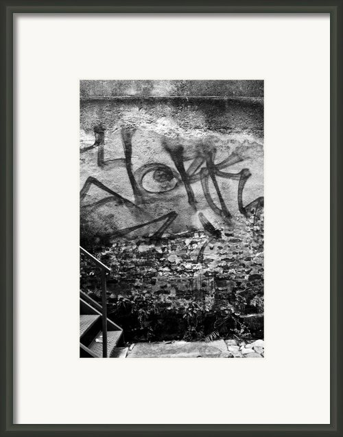 Back Alley Graffiti  Framed Print By Dustin K Ryan