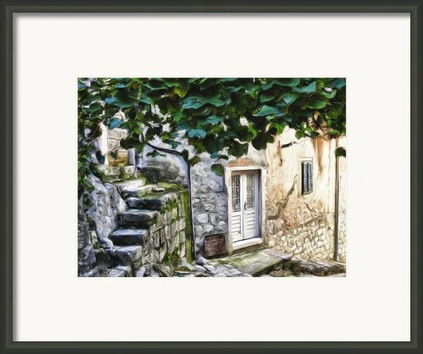 Back Alley Living Framed Print By Janet Fikar