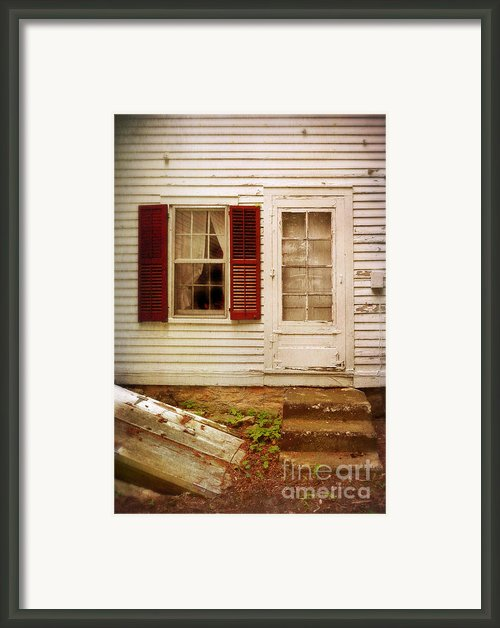 Back Door Of Old Farmhouse Framed Print By Jill Battaglia