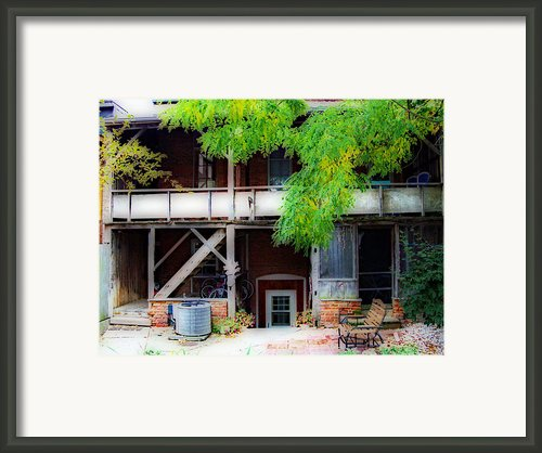 Back Of Main Street Framed Print By Mj Olsen