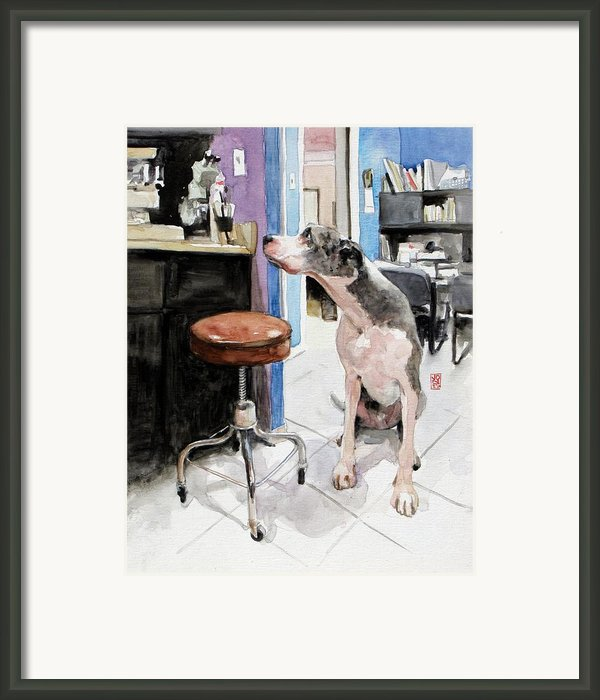 Back Office Framed Print By Debra Jones