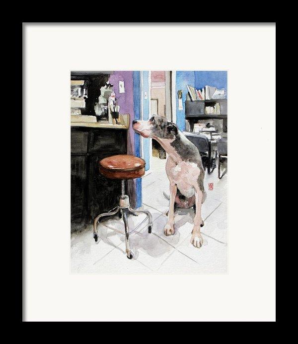 Back Office Framed Print By Debra Jones