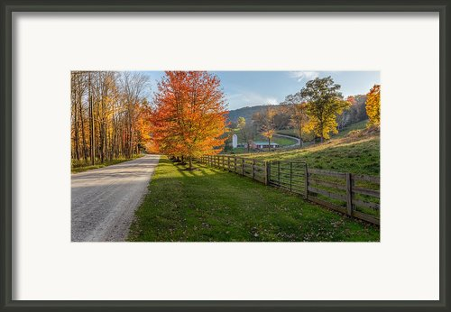 Back Roads Framed Print By Bill  Wakeley