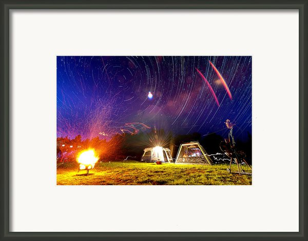 Back Yard Camping Framed Print By Aaron Priest