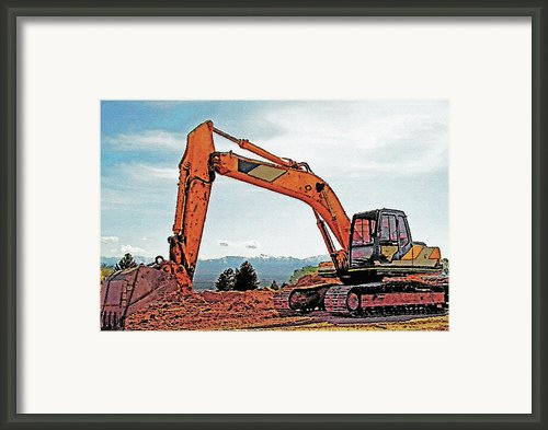 Backhoe 2 Framed Print By Steve Ohlsen