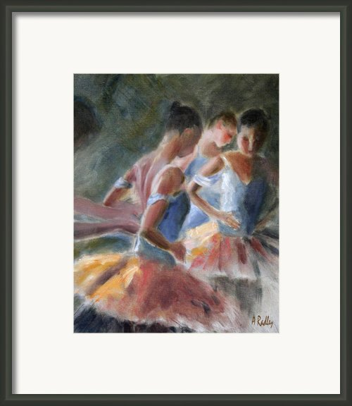 Backstage Costume Change Framed Print By Ann Radley